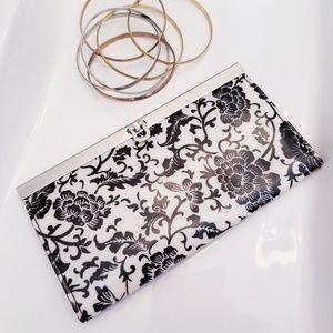 Handbags - Floral Print Gloss Clutch